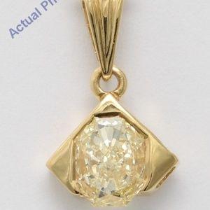18K Gold Radiant Diamond Pendant 0.54 Ct C19000227